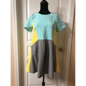 🦋Color Block Dress